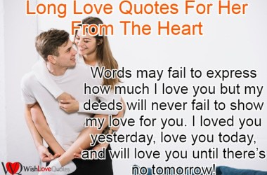 Long Love Quotes For Her