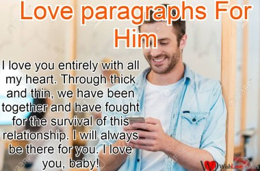 Love paragraphs For Him