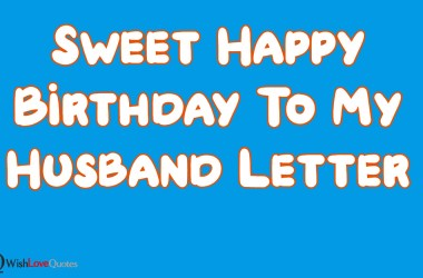 Happy Birthday To My Husband Letter