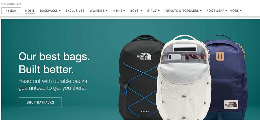 The North Face Amazon store