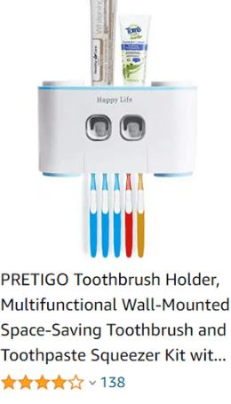 Amazon toothbrush holder ad