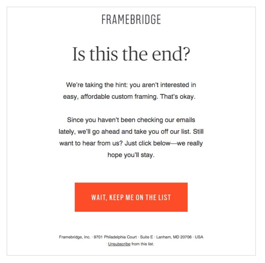 Framebridge Administrative Email