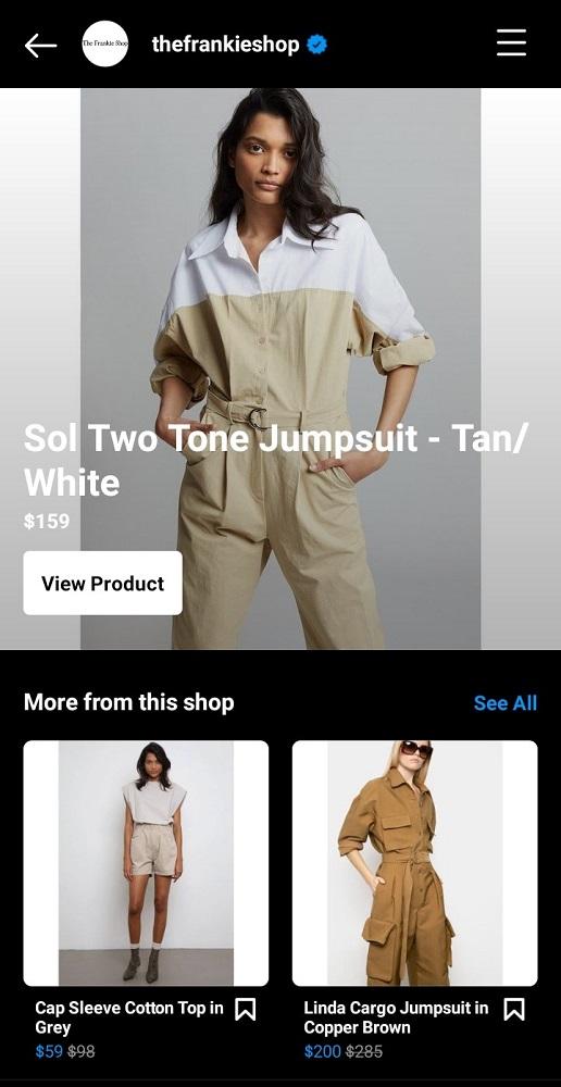 The Frankie Shop Instagram Shop