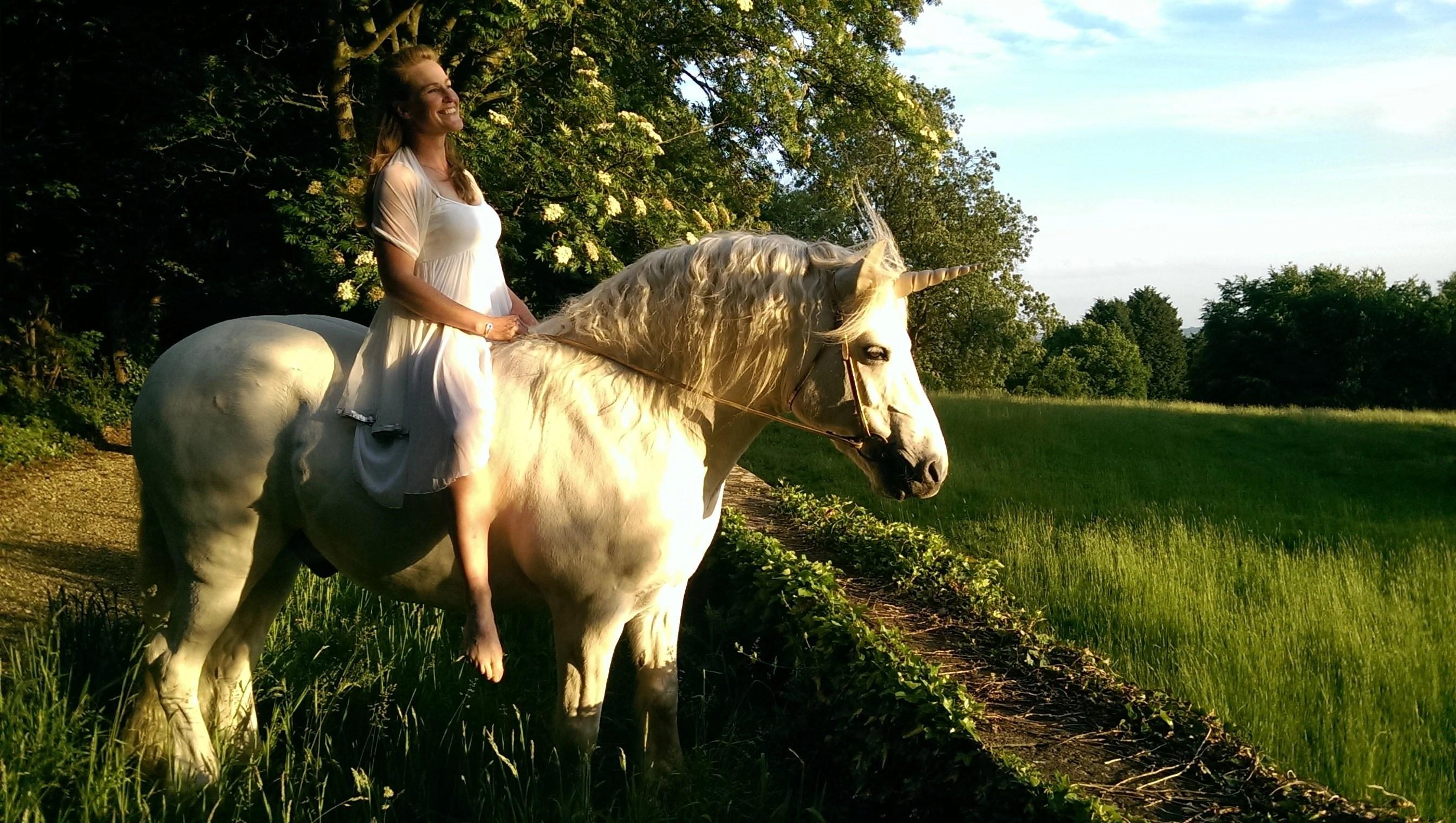 Contoured Natural-Look Unicorn Horn™ - Photo © Jive Pony (UK)