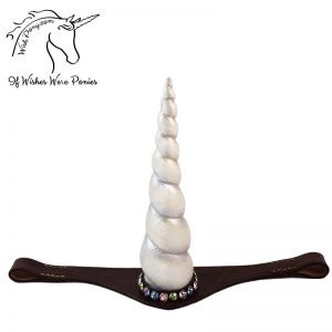 Pearl Leather Unicorn Browband
