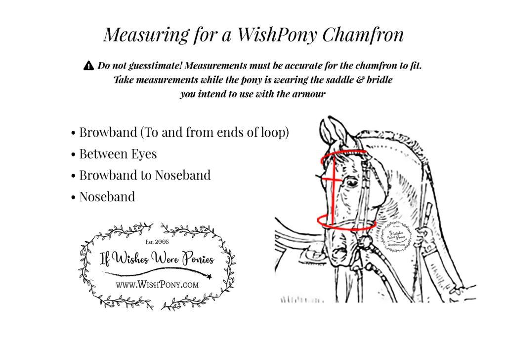 WishPony Pony Face Armour Measurement