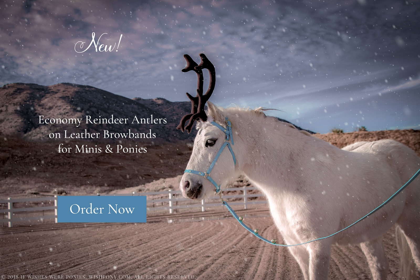 New WishPony Reindeer Antlers for Minis and Ponies