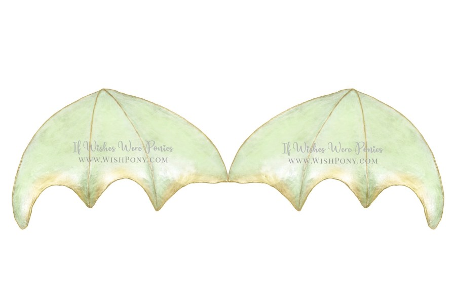 Green and Gold Dragon Wings costume for Horse or Pony by If Wishes Were Ponies