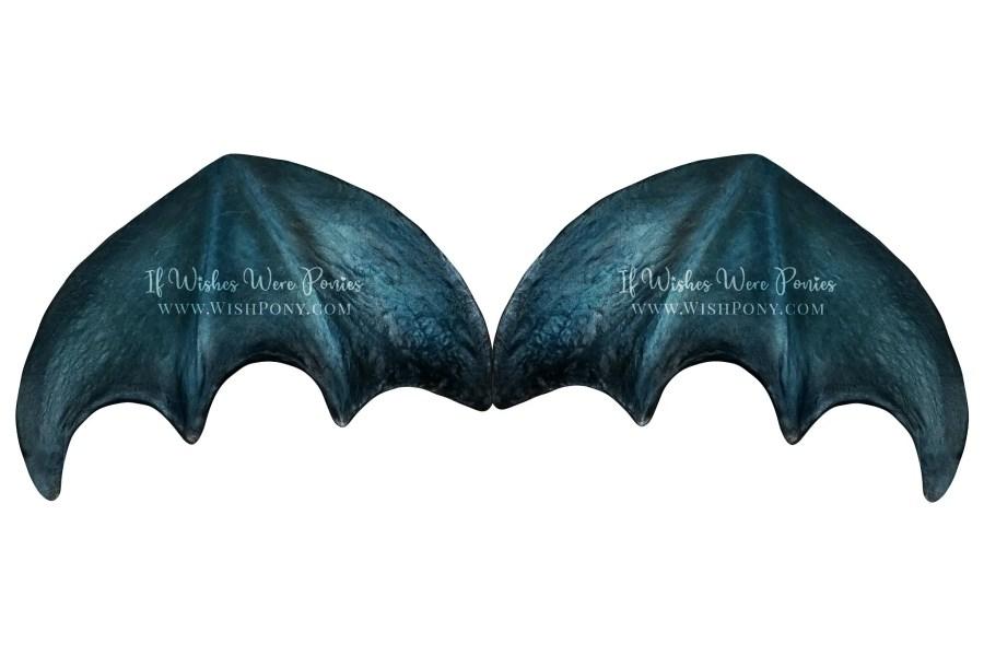 Wishpony.com Metallic Blue Dragon Wings for Horses