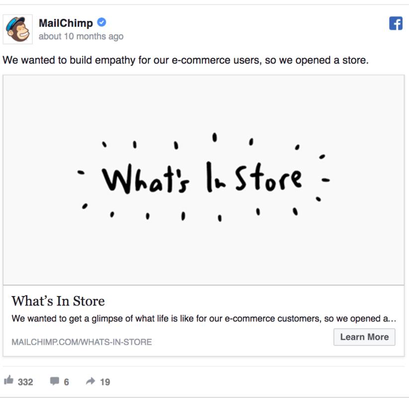 MailChimp ad