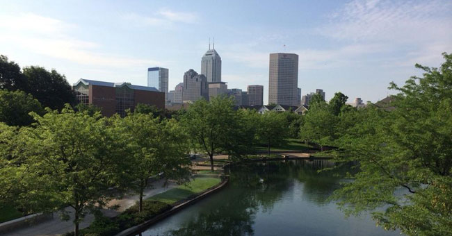 Indianapolis downtown skyline_88866