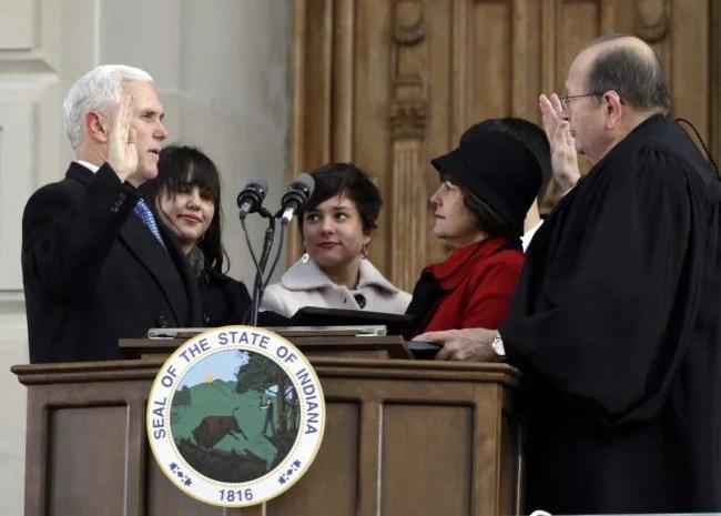 Mike Pence, Brent E. Dickson, Karne Pence_559724