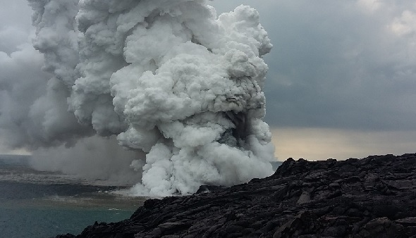 Lava delta collapses at Hawaii park_551131