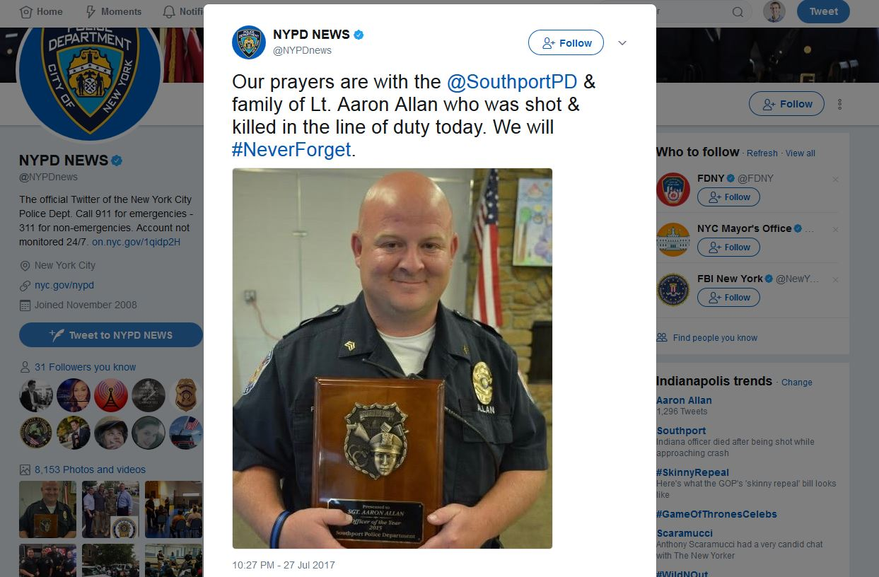 NYPD on Aaron Allan Tweet_686915