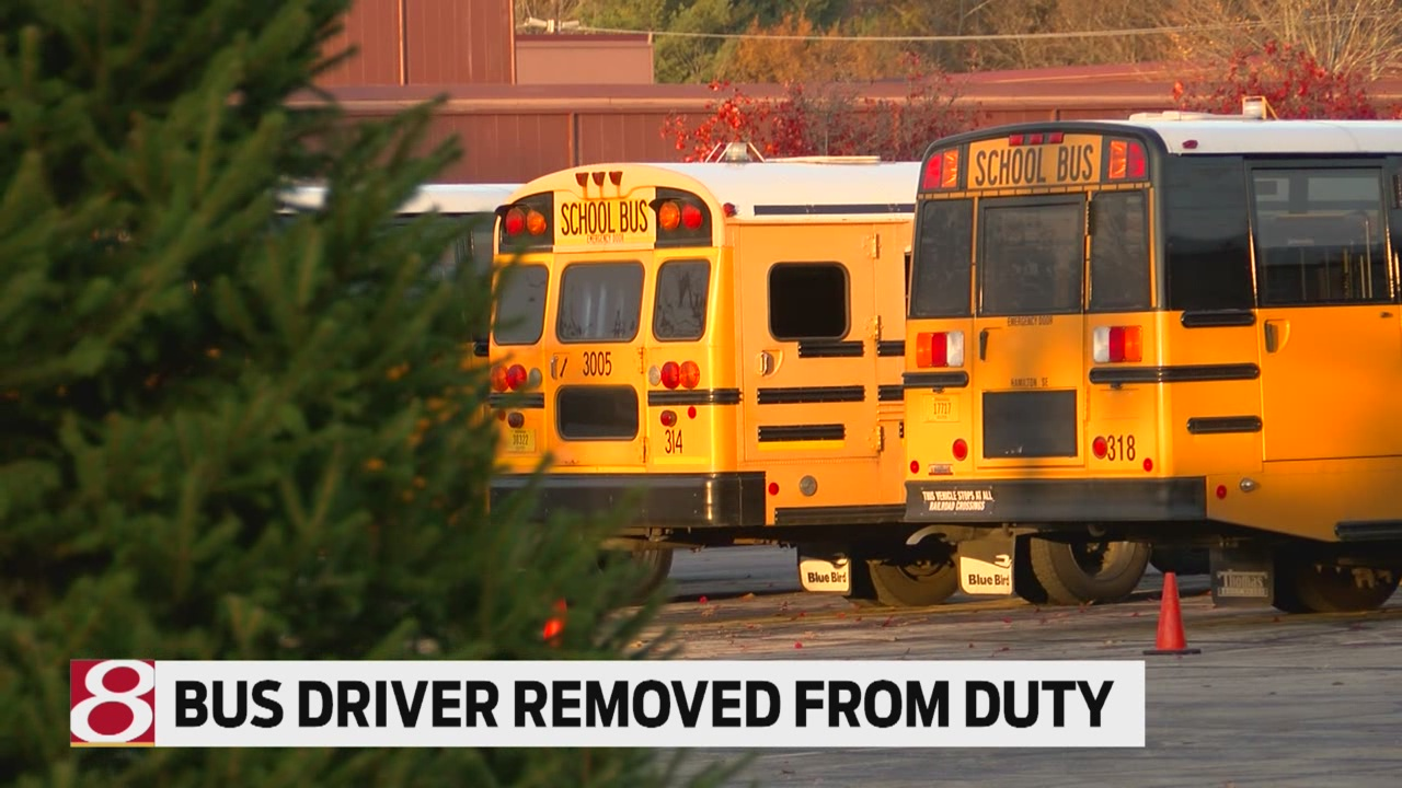 Bus driver removed from duty