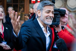 Actor George Clooney promotes charity, contest with comedic sketch