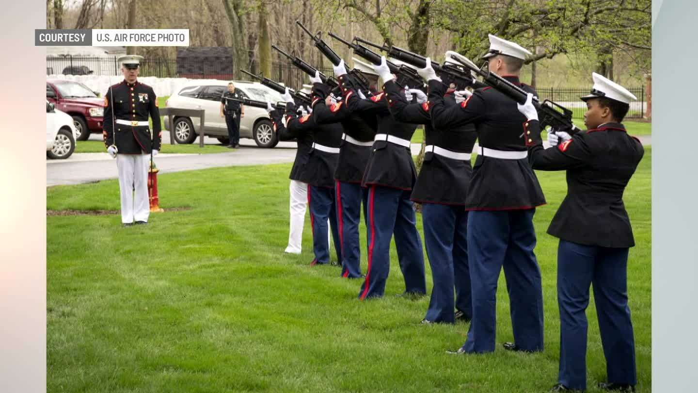 Remains of WWII Marine laid to rest in Marion