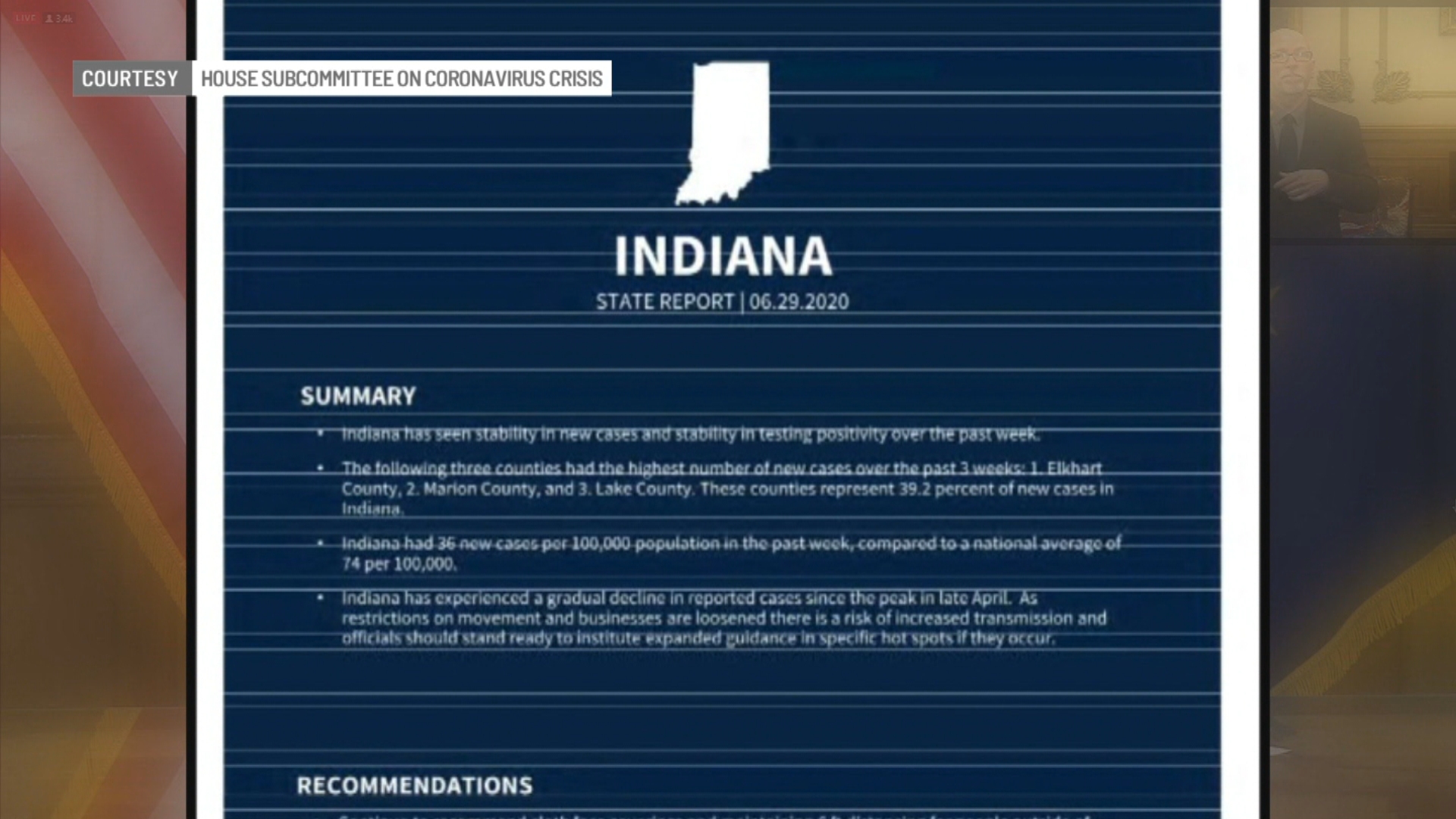 White House Task Force Praises Recommends Tougher Measures For Indiana Wish Tv Indianapolis News Indiana Weather Indiana Traffic