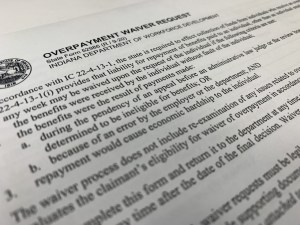 Indiana highlights unemployment overpayment waiver option