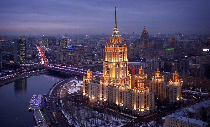 L'Hôtel Ukraine à Moscou Photo : Amos Chapple