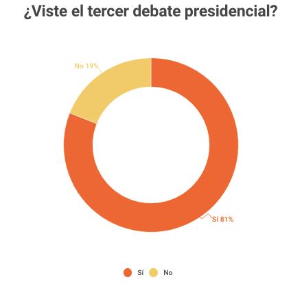 Viste el debate presidencial