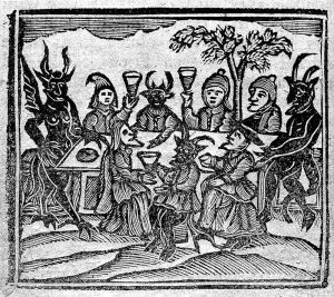 Witches feasting