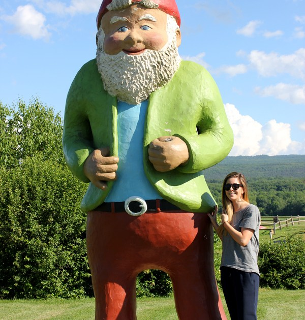 me and the second largest garden gnome