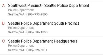 SeattlePoliceNonEmergencyNumbers