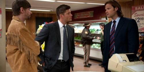 Garth, Dean, and Sam in a store