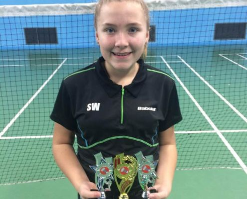 Sophie Watson with trophies