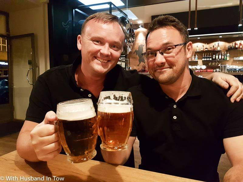 Drinking Czech Beer - czech beer kozel