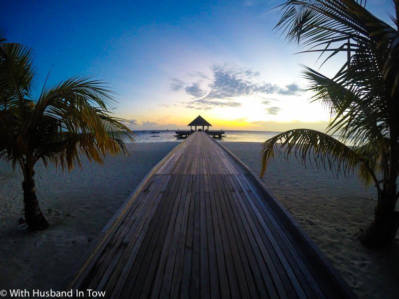 Outrigger Maldives beach front villa