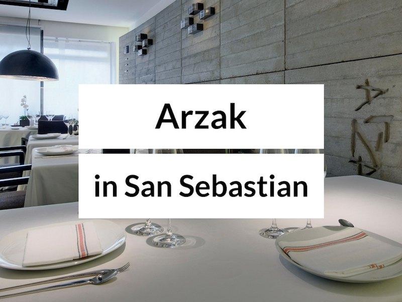 restaurante arzak San Sebastian