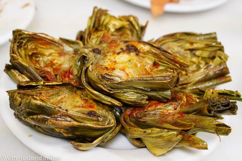 Barcelona Spain food artichokes