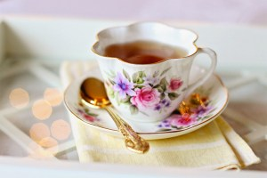 English tea cup with flowers