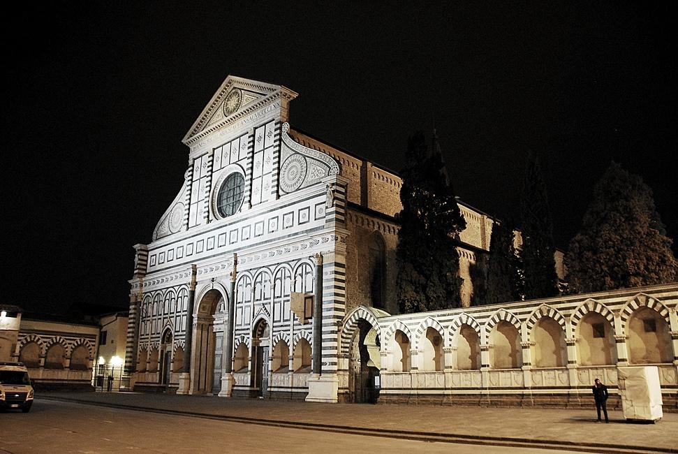 Santa Maria Novella - night - Florence