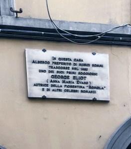 Florence literary walk