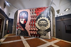 'OBEY. MAKE ART NOT WAR', exhibition at Palazzo Medici-Riccardi in Florence