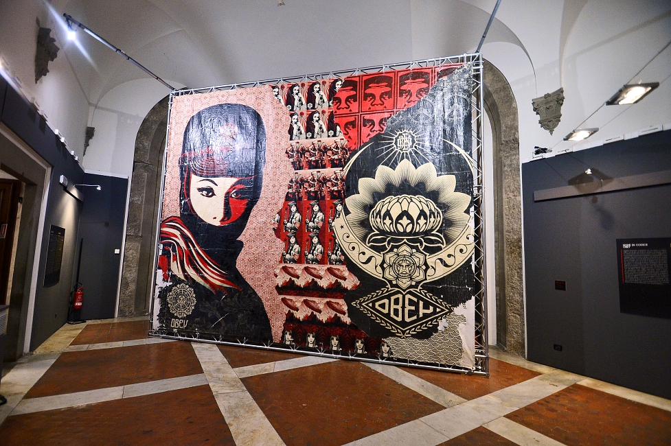 'OBEY. MAKE ART NOT WAR,' exhibition at Palazzo Medici-Riccardi in Florence