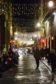 Streets of Florence at Christmas time - Borgo San Frediano