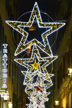 Streets of Florence at Christmas time - via del Corso