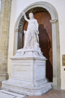 """Libertà della Poesia"" created by the sculptor Pio Fedi in 1883, dedicated to the Italian patriot Giovanni Battista Niccolini, buried in the Basilica of Santa Croce in Florence"