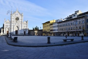 The impact of the coronavirus on Florence, the plague of the 21st century - Santa Croce