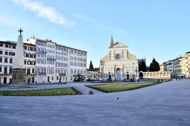 The impact of the coronavirus on Florence, the plague of the 21st century - Piazza Santa Maria Novella