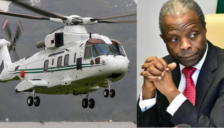 Image result for This will be the second time Osinbajo will escape helicopter cash.