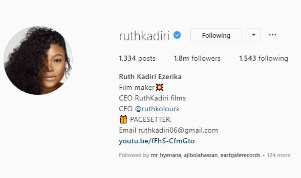 Nollywood actress, Ruth Kadiri adds