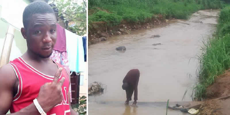 Yahoo Boy use friend for rituals at Abeokuta river after getting him drunk at a birthday party (photo)