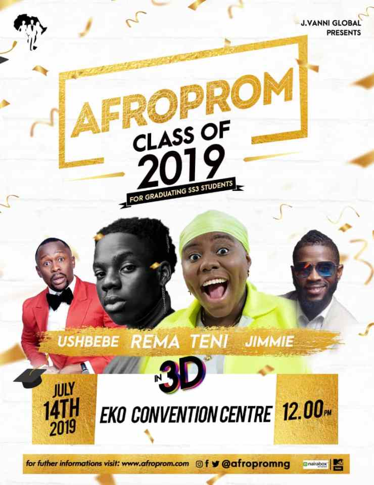 Teni, Rema, Banky W And Others To Thrill At Nigeria's First-Ever Prom Concert 'Afroprom'.