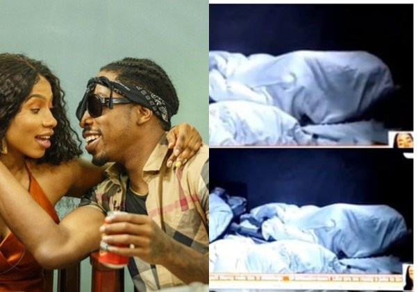BBNaija 2019: The Moment Mercy and Ike caught smooching under duvet (video)