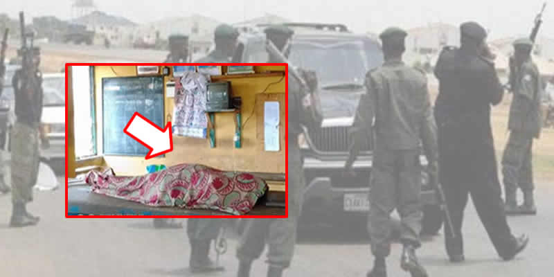 Angry youths dumps corpse at Police Station after Pregnant woman in labour dies at police checkpoint in Ogun